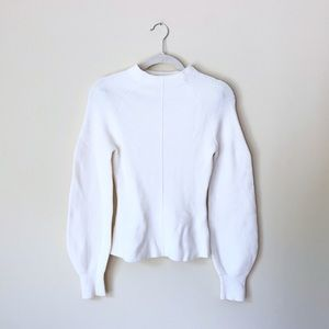 White Mock Neck Zara Sweater